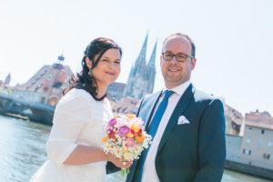 Hochzeitsfoto in Regensburg mit Dom