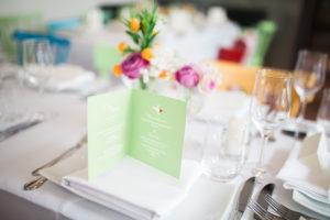 Menükarten Dekoration Hochzeit