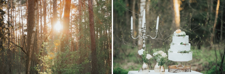 "Hochzeitstorte ""Naked Cake"" im Sonnenuntergang"