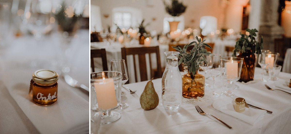Tischdeko und Gastgeschenke