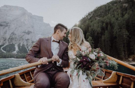 Elopement Hochzeit Praser Wildsee in Südtirol